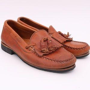 Allen Edmonds Nashua Tassel Brown Loafers Shoes